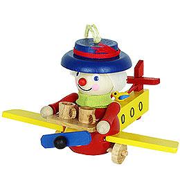 Tree Ornament  -  Stewardess in Airplane  -  8cm / 3.1 inch