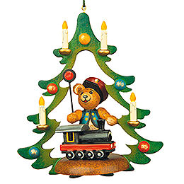 Tree Ornament  -  Teddy Railway  -  9cm / 3,5 inch