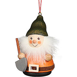 Tree Ornament Teeter Man Dwarf with Shovel  -  8cm / 3.1 inch
