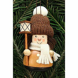 Tree Ornament  -  Teeter Man Lantern Boy, Natural  -  9,5cm / 3.7 inch