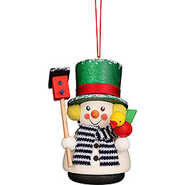 Tree Ornament  -  Teeter Snowman  -  8,5cm / 3.3 inch