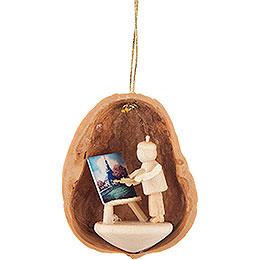Tree Ornament  -  Walnut Shell Painter  -  4,5cm / 1.8 inch