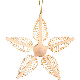 Tree Ornament  -  Wood Chip Star  -  11cm / 4.3 inch