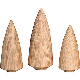 Tree Set  -  3 Pieces  -  9cm / 3.5 inch