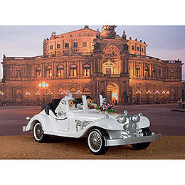 Two Smokers with Exclusive Wedding Limousine  -  70x32cm / 28x13 inch