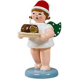 Weihnachtsengel mit Mütze und Kuchen   -  6,5cm