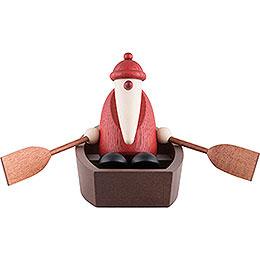 Weihnachtsmann im Ruderboot  -  9cm