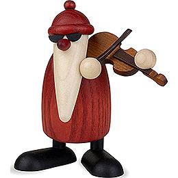Weihnachtsmann mit Geige  -  9cm