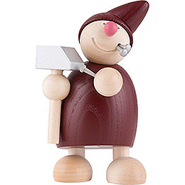 Wicht mit Hammer und Nägeln  -  rot  -  10,5cm