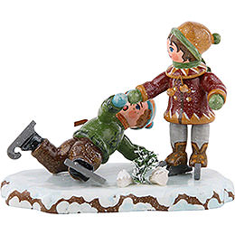 Winter Children Boy Skating  -  7cm / 3 inch