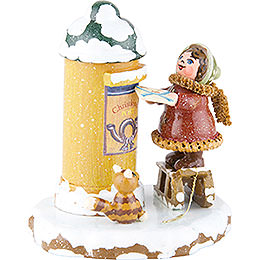 Winter Children Christ Child Post  -  7cm / 3 inch