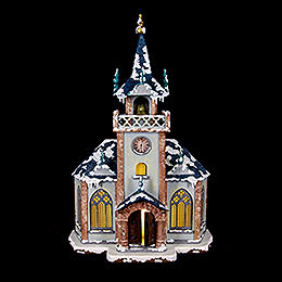 Winter Children Church Illuminated  -  31cm / 12 inch