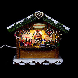 Winter Children Market Booth Gingerbread House  -  10cm / 4 inch