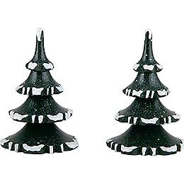 Winter Children Trees  -  Medium  -  Set of 2  -  8cm / 3.1 inch
