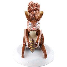 Winterkinder 4er Set Eichhörnchen  -  3cm