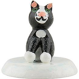 Winterkinder 6er Set Katze schwarz  -  2,5cm