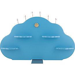Wolkenrückwand für Engelwolke, farbig  -  57x36cm