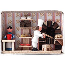 Zündholzschachtel Bäckerei  -  4cm
