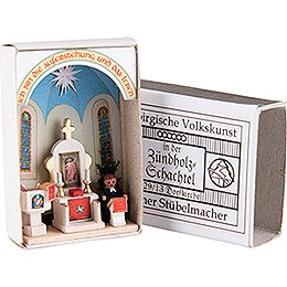 Zündholzschachtel Dorfkirche  -  3,8cm